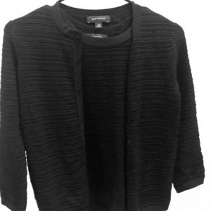 Ann Taylor black cardigan set